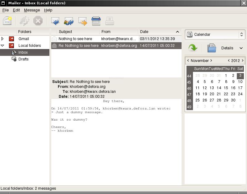 DeforaOS Project: Mailer